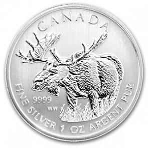 Silver Moose sølvmynt 2012